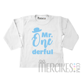 Shirt mr onederful hoedje  - Lange mouw