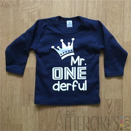 Verjaardag Shirtje Eerste Verjaardag Mr. One derful