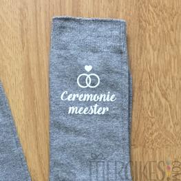Cadeau Ceremoniemeester - Sokken Ceremoniemeester Trend Lettertype
