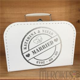 Koffertje voor Enveloppen / Ringen - Stempel