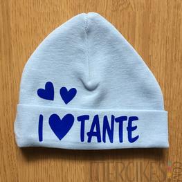Babymutsje I love Tante
