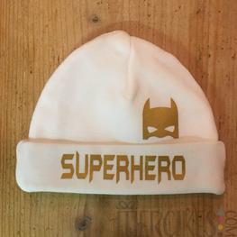 Babymutsje Superhero met Masker