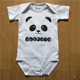 Romper / Body met Naam Panda