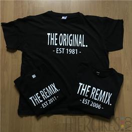 Matching Shirts The Original The Remix met Jaartal