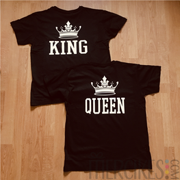 T-shirts King en Queen zonder Datum