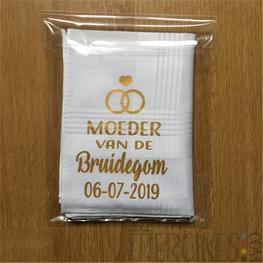 Zakdoek Moeder Bruid / Bruidegom met Datum