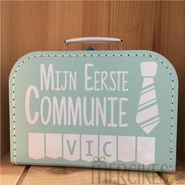 Herinneringskoffer communie Stropdas Jongen
