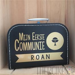 Koffertje voor communie Kelk met Naam