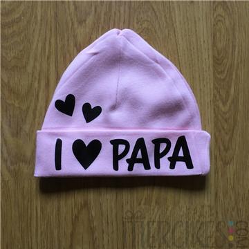 Babymutsje I love Papa