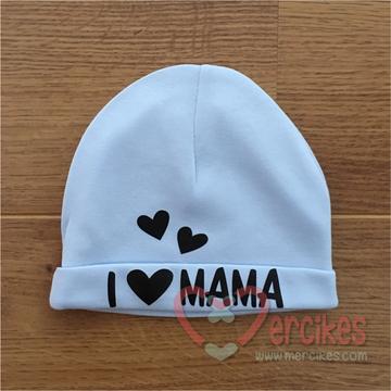 Babymutsje I love Mama