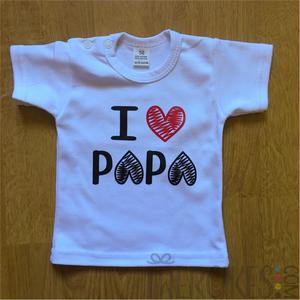 i love papa t-shirt, kraamcadeau voor papa