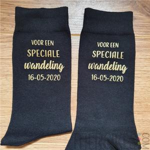 vader bruid kado, bedrukte sokken voor speciale wandeling