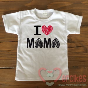 Shirtje I love mama, kraamcadeau voor mama