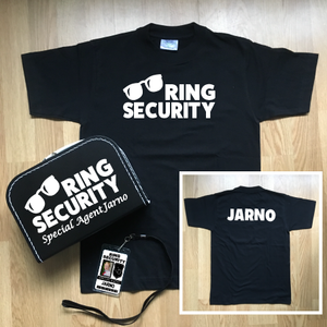 Complete Set Ring Security! Zonnebril met naam