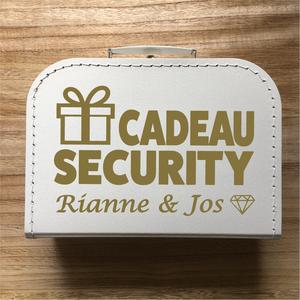 Koffer Cadeau Security Namen Bruidspaar
