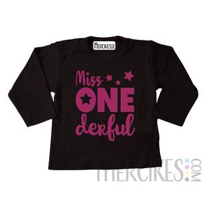Shirt miss onederful ster - Lange mouw
