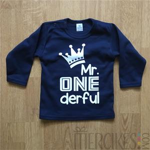 Verjaardag Shirtje Eerste Verjaardag Mr One Derful Mercikes