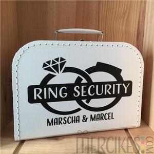 Orgineel trouwidee voor je bruiloft, ringsecurity koffer van mercikes.com