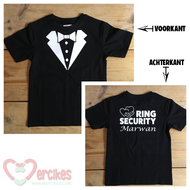 shirt ring security smoking artje met ringen en naam